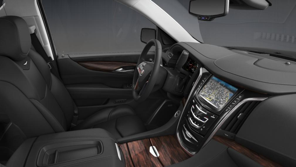 2015 Cadillac Escalade Interior In Jet Black With Jet Black Accents   New  York Car Service
